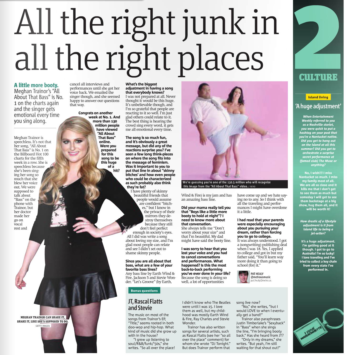 Meghan Trainor tells all about 'All About That Bass'